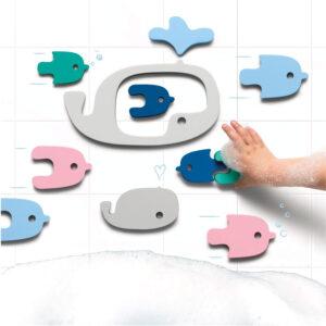 puzzle da bagno whales