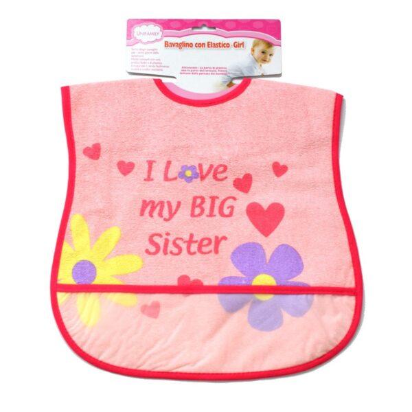 bavaglia i love my BIG sister