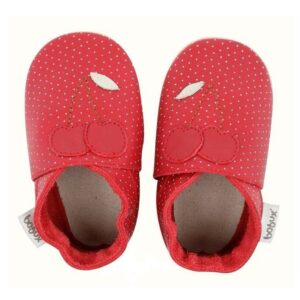 bobux soft sole rosso ciliege pois