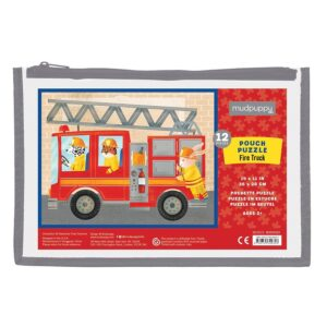 pouch puzzle il camion dei pompieri
