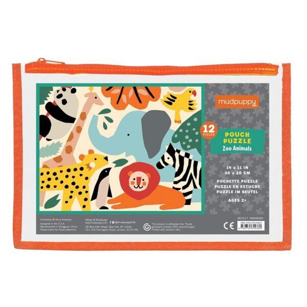 pouch puzzle animali dello zoo
