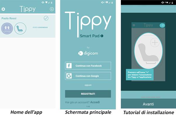 Tippy dispositivo anti abbandono app